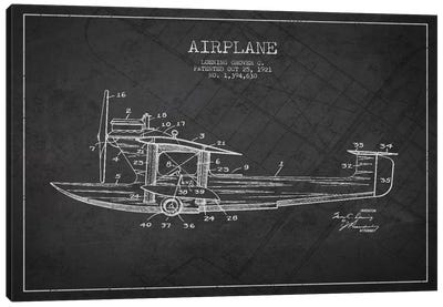 Airplane Charcoal Patent Blueprint Canvas Print #ADP2315