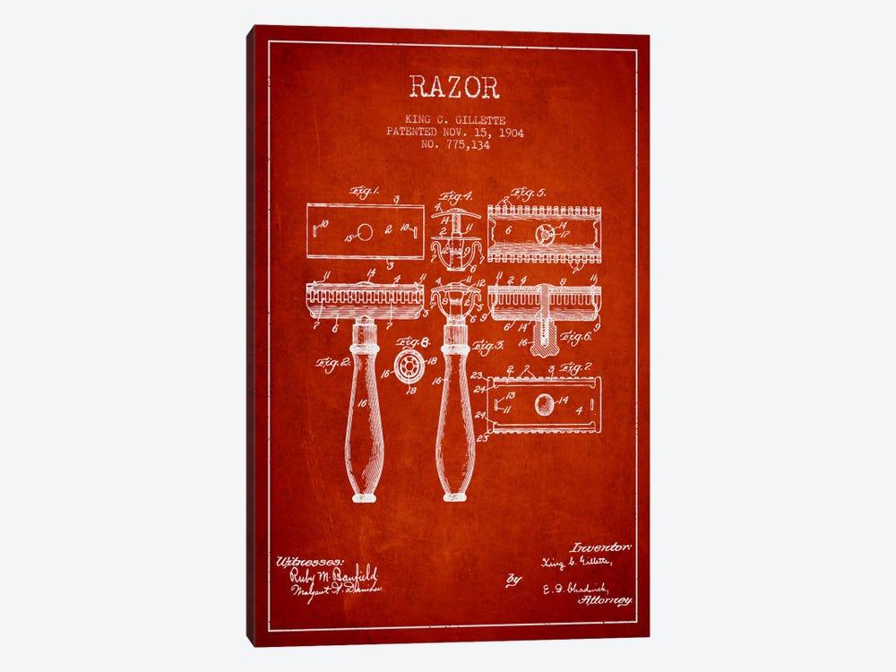 Razor Red Patent Blueprint by Aged Pixel 1-piece Canvas Art