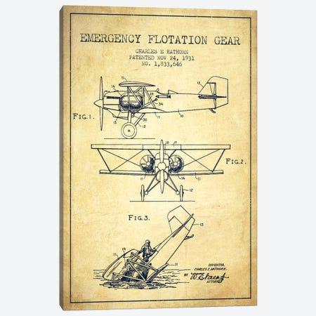Float Plane Vintage Patent Blueprint Canvas Print #ADP2324} by Aged Pixel Canvas Art