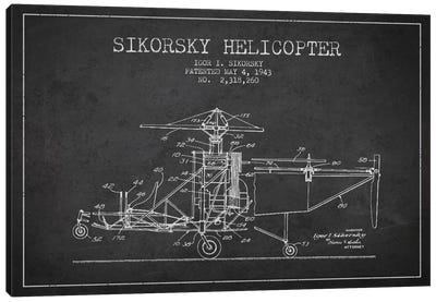 Helicopter Charcoal Patent Blueprint Canvas Print #ADP2330