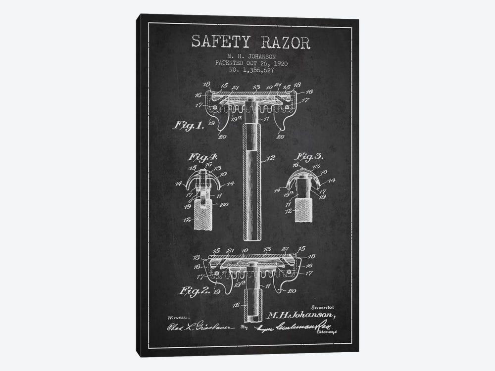 Razor Charcoal Patent Blueprint by Aged Pixel 1-piece Canvas Artwork