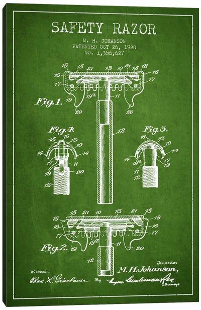 Razor Green Patent Blueprint Canvas Print #ADP234