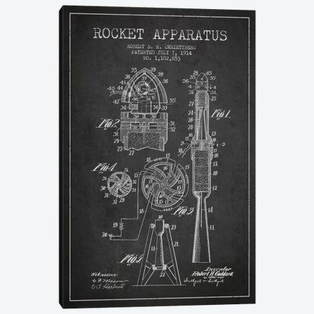 Rocket Apparatus Charcoal Patent Blueprint Canvas Print #ADP2355} by Aged Pixel Canvas Art Print