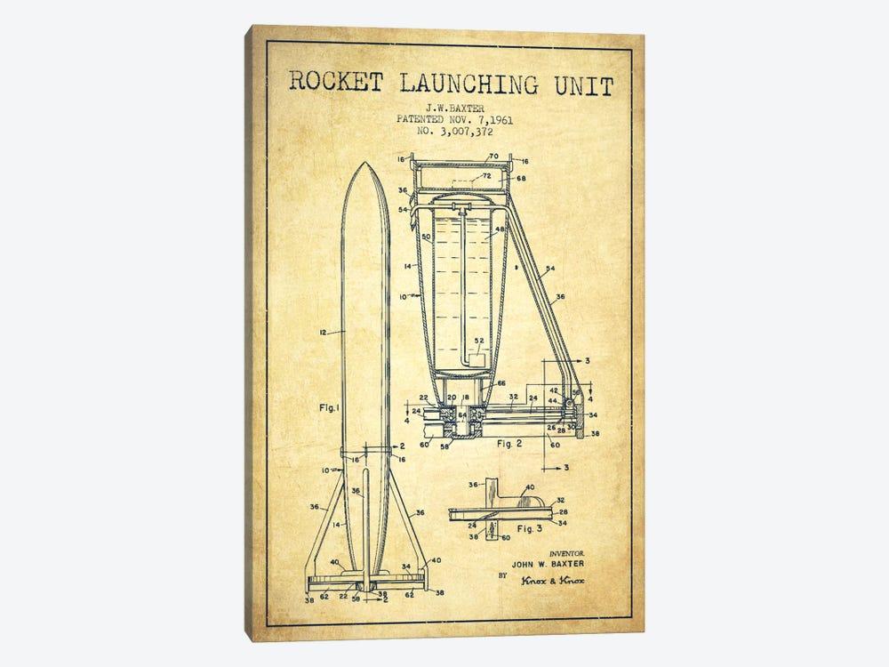 Rocket Unit Vintage Patent Blueprint by Aged Pixel 1-piece Canvas Artwork