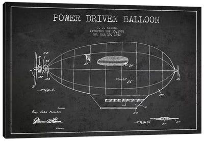 Zeppelin Charcoal Patent Blueprint Canvas Art Print