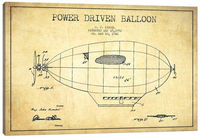 Zeppelin Vintage Patent Blueprint Canvas Art Print