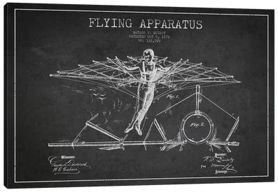 Flying Apparatus Charcoal Patent Blueprint Canvas Art Print