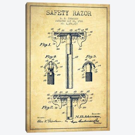 Razor Vintage Patent Blueprint Canvas Print #ADP237} by Aged Pixel Canvas Art Print