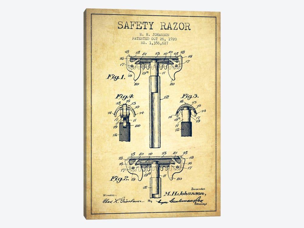 Razor Vintage Patent Blueprint by Aged Pixel 1-piece Canvas Art