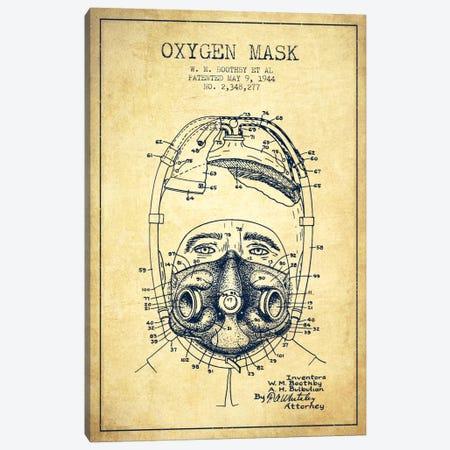 Oxygen Mask 1 Vintage Patent Blueprint Canvas Print #ADP2389} by Aged Pixel Canvas Print