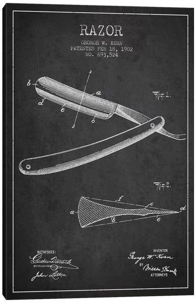 Razor Charcoal Patent Blueprint Canvas Print #ADP238
