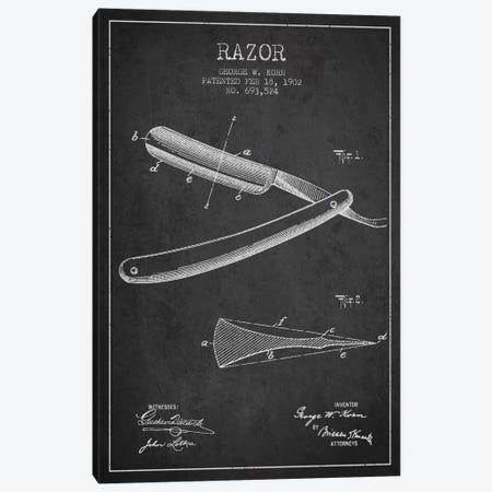 Razor Charcoal Patent Blueprint Canvas Print #ADP238} by Aged Pixel Canvas Artwork