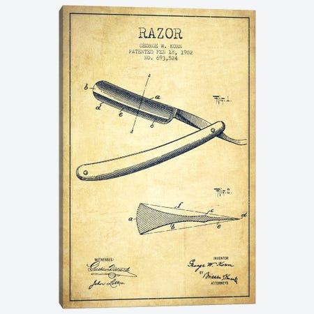 Razor Vintage Patent Blueprint Canvas Print #ADP242} by Aged Pixel Canvas Art Print