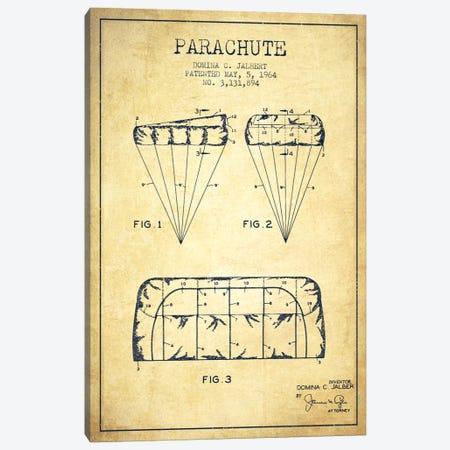 Parachute Vintage Patent Blueprint Canvas Print #ADP2439} by Aged Pixel Canvas Art Print