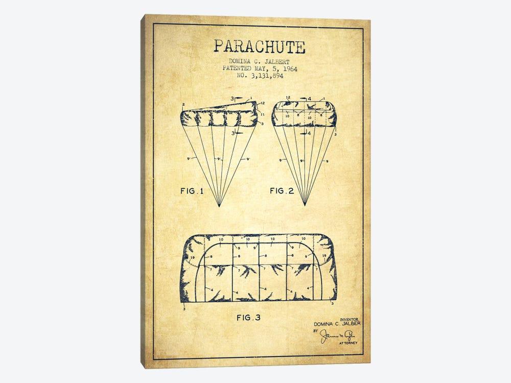 Parachute Vintage Patent Blueprint by Aged Pixel 1-piece Art Print
