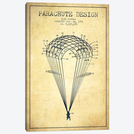 Parachute Design Vintage Patent Blueprint Canvas Print #ADP2444} by Aged Pixel Canvas Print