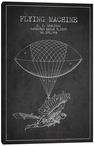Icarus 5 Charcoal Patent Blueprint Canvas Art Print
