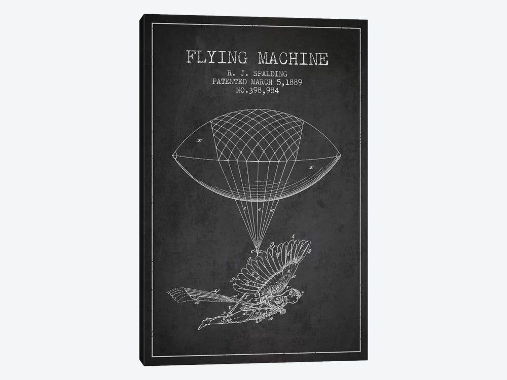 Icarus 5 Charcoal Patent Blueprint by Aged Pixel 1-piece Canvas Art