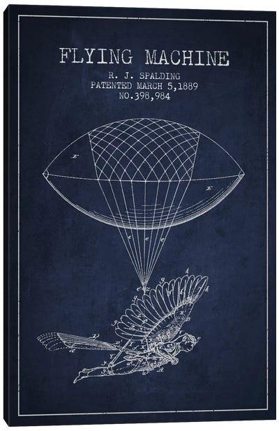Icarus 5 Navy Blue Patent Blueprint Canvas Art Print