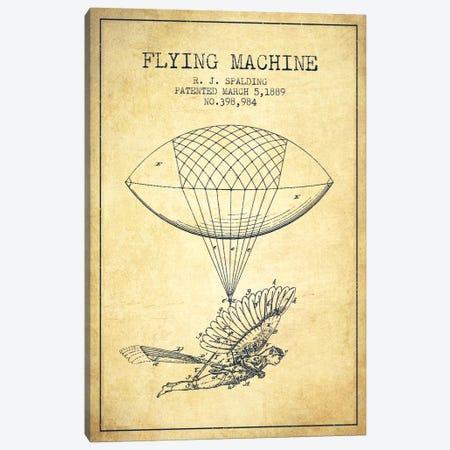 Icarus 5 Vintage Patent Blueprint Canvas Print #ADP2449} by Aged Pixel Canvas Artwork