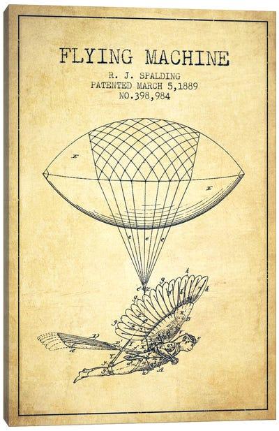 Icarus 5 Vintage Patent Blueprint Canvas Art Print