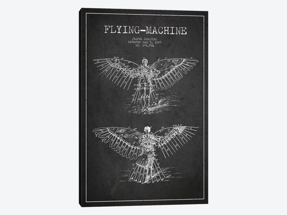 Icarus 3 Charcoal Patent Blueprint by Aged Pixel 1-piece Canvas Art
