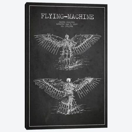 Icarus 3 Charcoal Patent Blueprint Canvas Print #ADP2450} by Aged Pixel Art Print