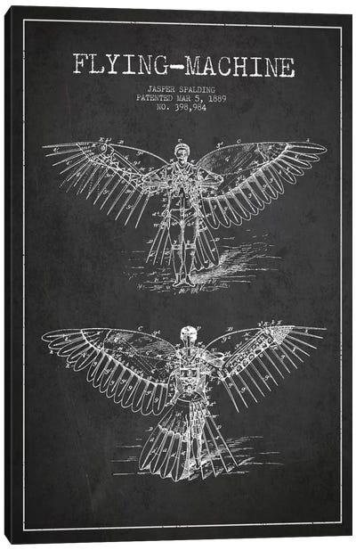 Icarus 3 Charcoal Patent Blueprint Canvas Art Print