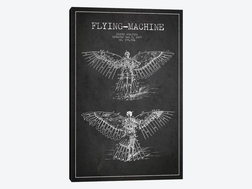 Icarus 3 Charcoal Patent Blueprint by Aged Pixel 1-piece Canvas Art
