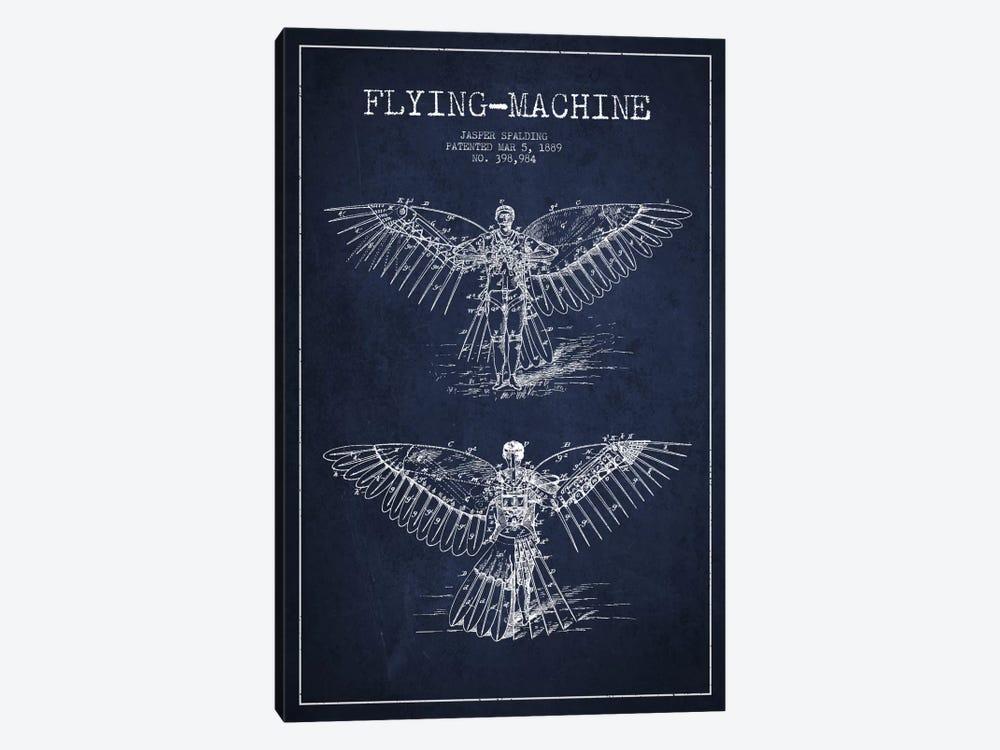 Icarus 3 Navy Blue Patent Blueprint by Aged Pixel 1-piece Canvas Art