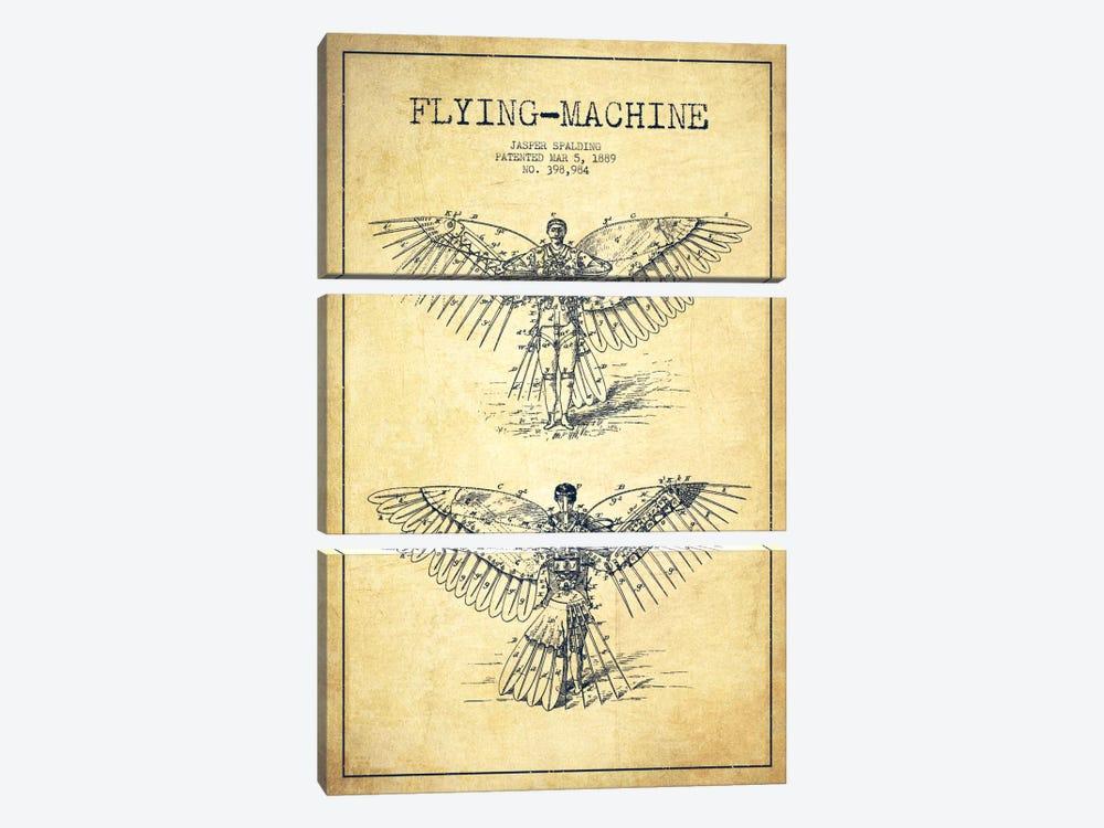 Icarus 3 Vintage Patent Blueprint by Aged Pixel 3-piece Canvas Art