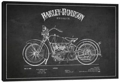 Harley-Davidson Charcoal Patent Blueprint Canvas Print #ADP2465
