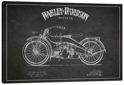 Harley-Davidson Charcoal Patent Blueprint Canvas Print #ADP2480