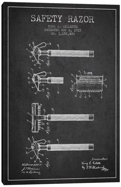 Razor Charcoal Patent Blueprint Canvas Print #ADP248