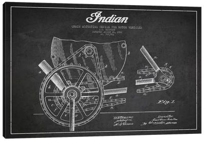 Indian Charcoal Patent Blueprint Canvas Art Print