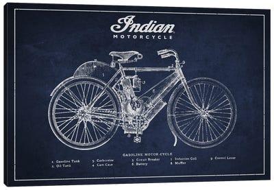 Indian Navy Blue Patent Blueprint Canvas Art Print