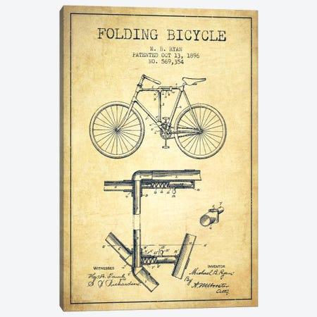 Bike Vintage Patent Blueprint Canvas Print #ADP2514} by Aged Pixel Canvas Art Print