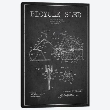 Bike Charcoal Patent Blueprint Canvas Print #ADP2520} by Aged Pixel Canvas Art Print