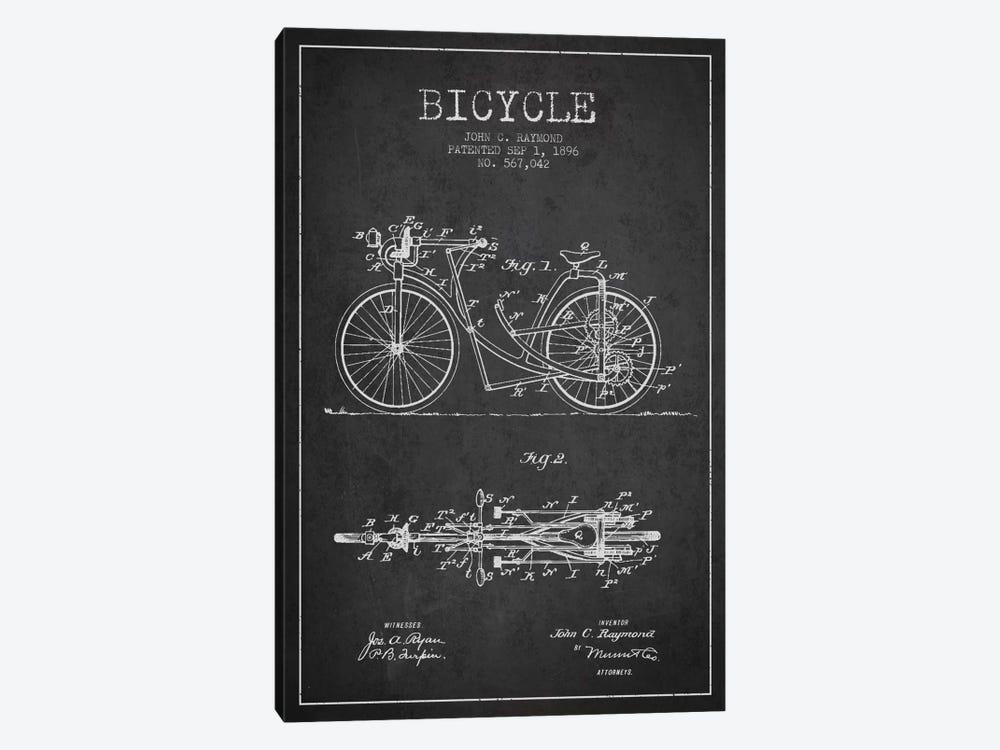 Raymond Bike Charcoal Patent Blueprint by Aged Pixel 1-piece Canvas Art