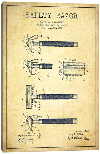 Razor Vintage Patent Blueprint Canvas Print #ADP252