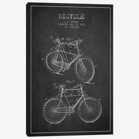 Bike Charcoal Patent Blueprint Canvas Print #ADP2535} by Aged Pixel Art Print