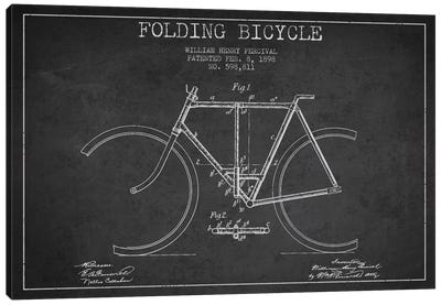 Bike Charcoal Patent Blueprint Canvas Art Print