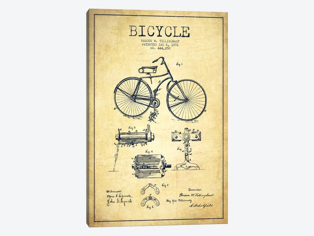 Bike Vintage Patent Blueprint by Aged Pixel 1-piece Art Print