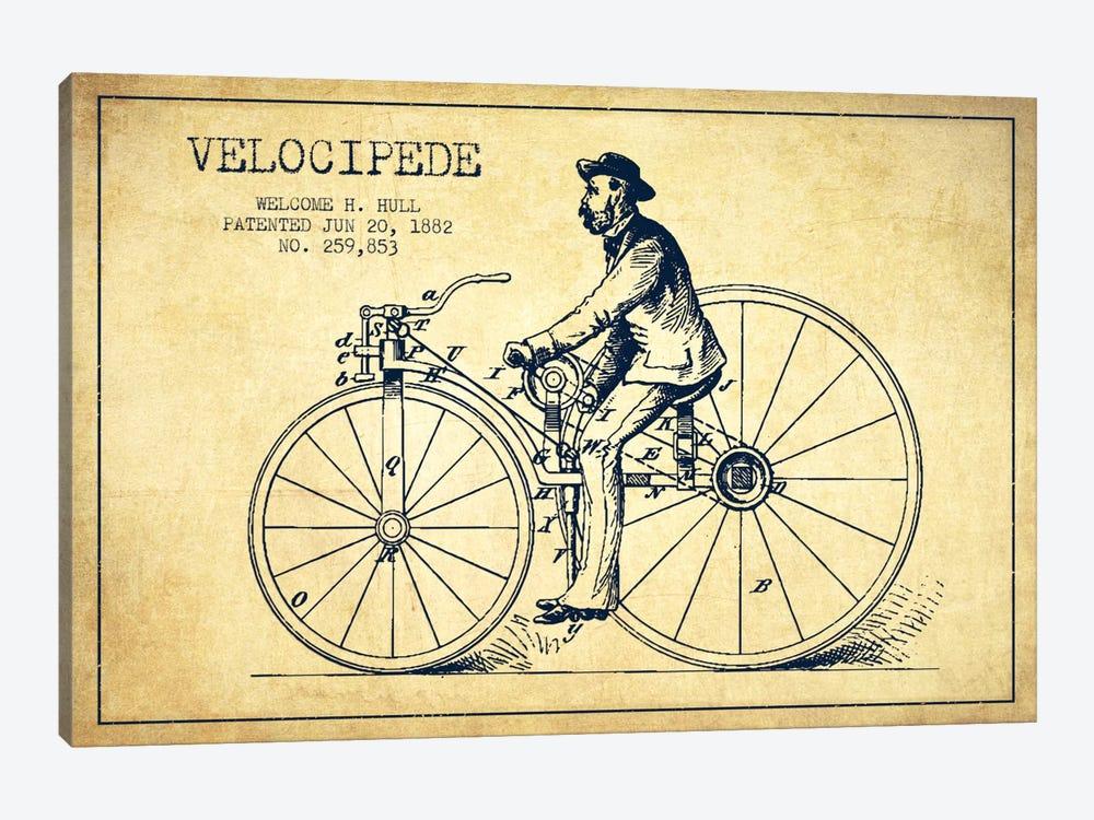 Hull Bike Vintage Patent Blueprint by Aged Pixel 1-piece Canvas Art