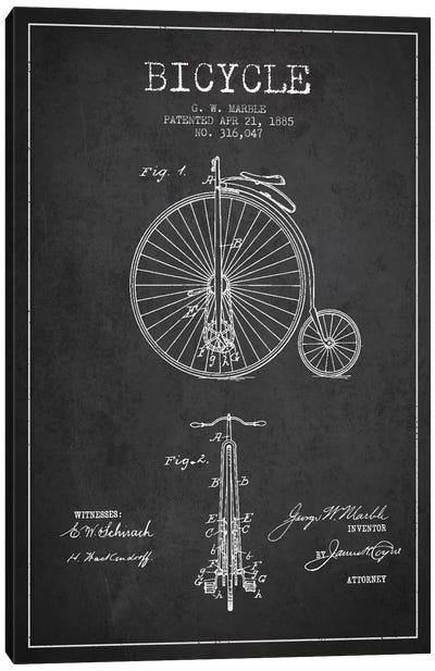 Marble Bike Charcoal Patent Blueprint Canvas Print #ADP2585