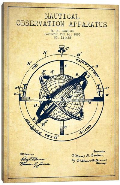 Nautical Observation Apparatus Vintage Patent Blueprint Canvas Print #ADP2604