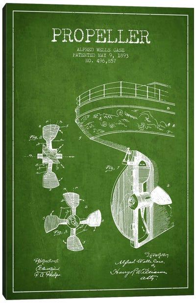 Propeller Green Patent Blueprint Canvas Print #ADP2611