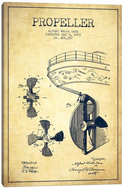 Propeller Vintage Patent Blueprint Canvas Print #ADP2614