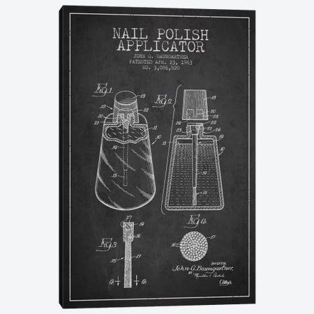 Nail Polish Applicator Charcoal Patent Blueprint Canvas Print #ADP263} by Aged Pixel Canvas Art Print