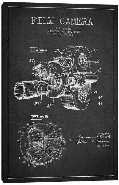 Camera Charcoal Patent Blueprint Canvas Print #ADP2755